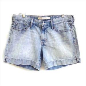 Old Navy Shorts Light Wash Mid Rise Side Slit 8